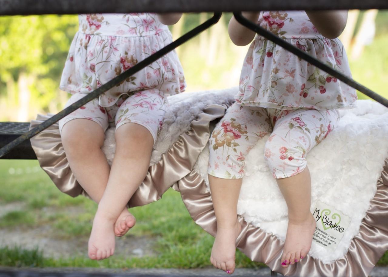 Luxury Ruffle Baby Blankets