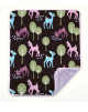 Brown Deer Organic Cotton With Lavender Minky Dot