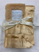 Latte Luxe With Back Satin Baby Stroller Blanket 30'' x 35''