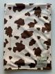 Minky Cow Print Brown Baby Receiving Blanket