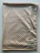 Minky Tan Mini Dot Baby Receiving Blanket