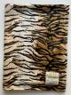 MInky Tiger Brown Baby Receiving Blanket