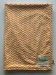 Minky Mini Chevron Orange Receiving Baby Blanket
