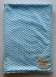 Minky MIni Chevron Aqua Receiving Baby Blanket