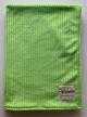Minky Pinstripe Lime Green Baby Receiving Blanket