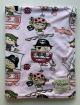 Minky Pirates Pink Baby Receiving Blanket