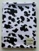 Minky Black White Cow Baby Receiving Blanket