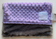 Lavender Minky Dot With Luxe Charcoal Back Security 14'' X 17