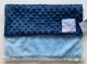 Navy Minky Dot With Blue Luxe Security Baby Blanket 14