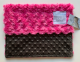 Luxe Snail Raspberry With Minky Dot Chocolate Brown Security Blanket 14