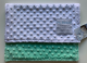 MInky Dot White With Mint Back Security baby Blanket 14