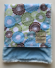 Organic Cotton Round About White With Luxe Blue Baby Blanket