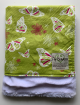 Organic Cotton Lime Green Butterfly White Luxe Baby Blanket