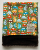 Cars Lime Green Organic Cotton With Brown Luxe Baby Blanket