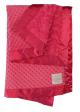Minky Dot Luxe Rose Raspberry With Raspberry Flat Satin Border Baby Blanket