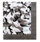 Winter Camo With Charcoal Solid Minky
